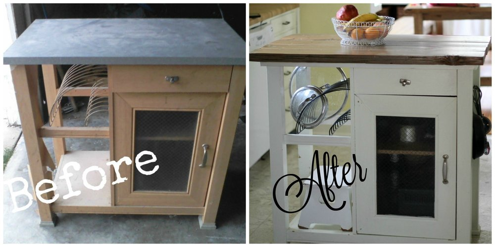 kitchen island before and after 1