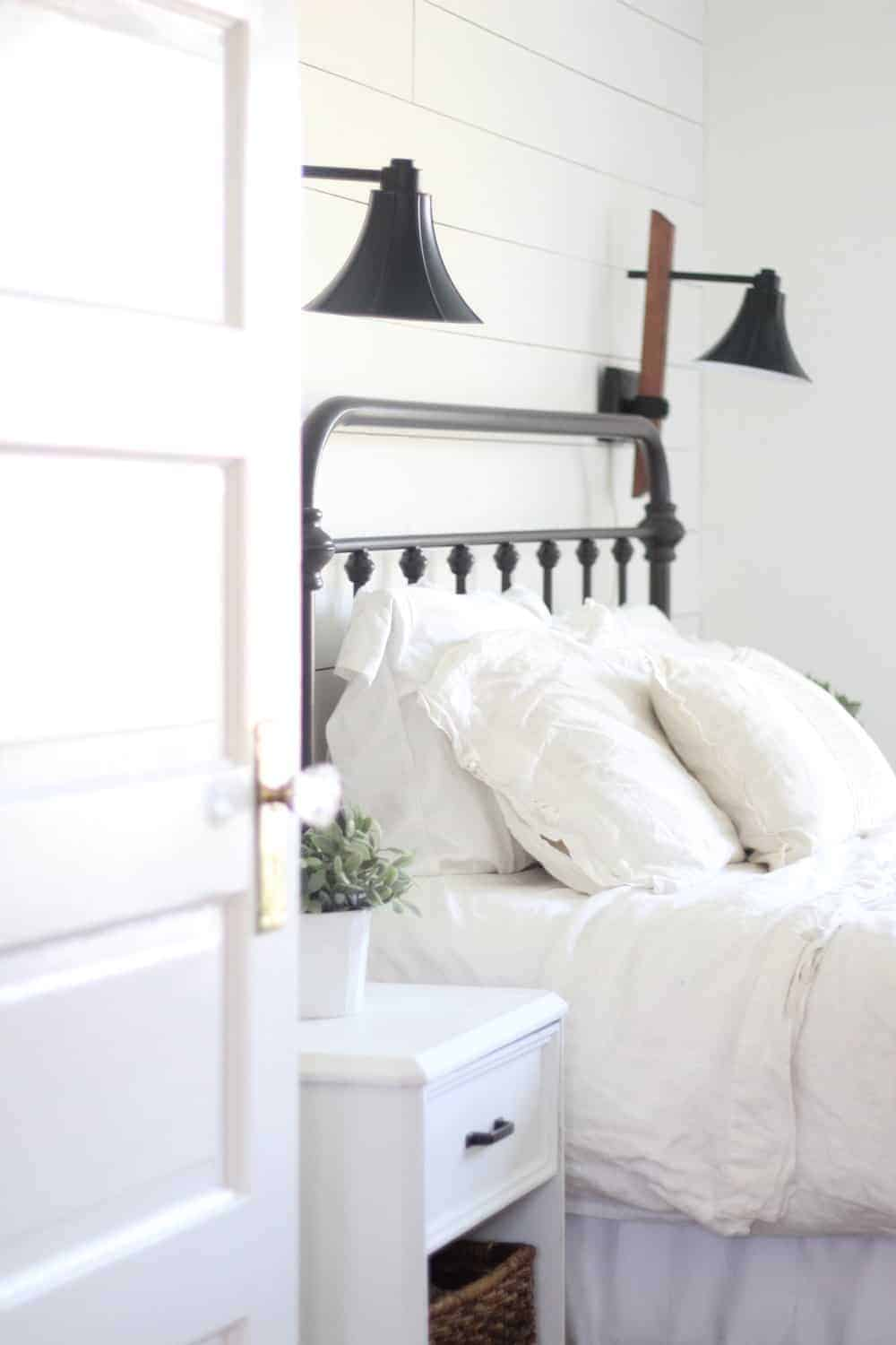 A Farmhouse Bedroom Makeover Part 4 Lamps and Nightstands