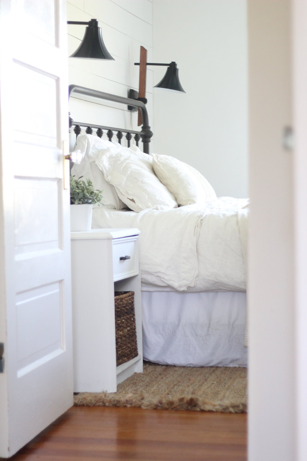A Farmhouse Bedroom Makeover Part 4 Lamps And Nightstands Farmhouse On Boone