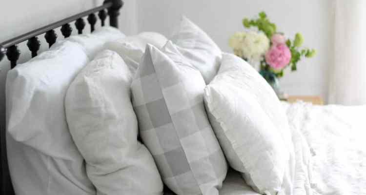 Simple DIY 20″ Buffalo Check Pillow Covers