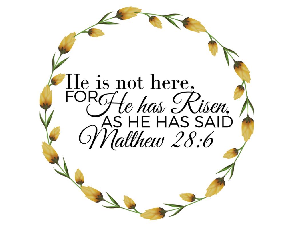 He is Risen Free Easter Printable