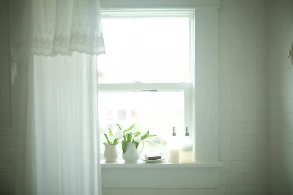 Farmhouse Trim Around Bathroom Mirror