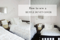 How to Make a Duvet Cover - Farmhouse on Boone