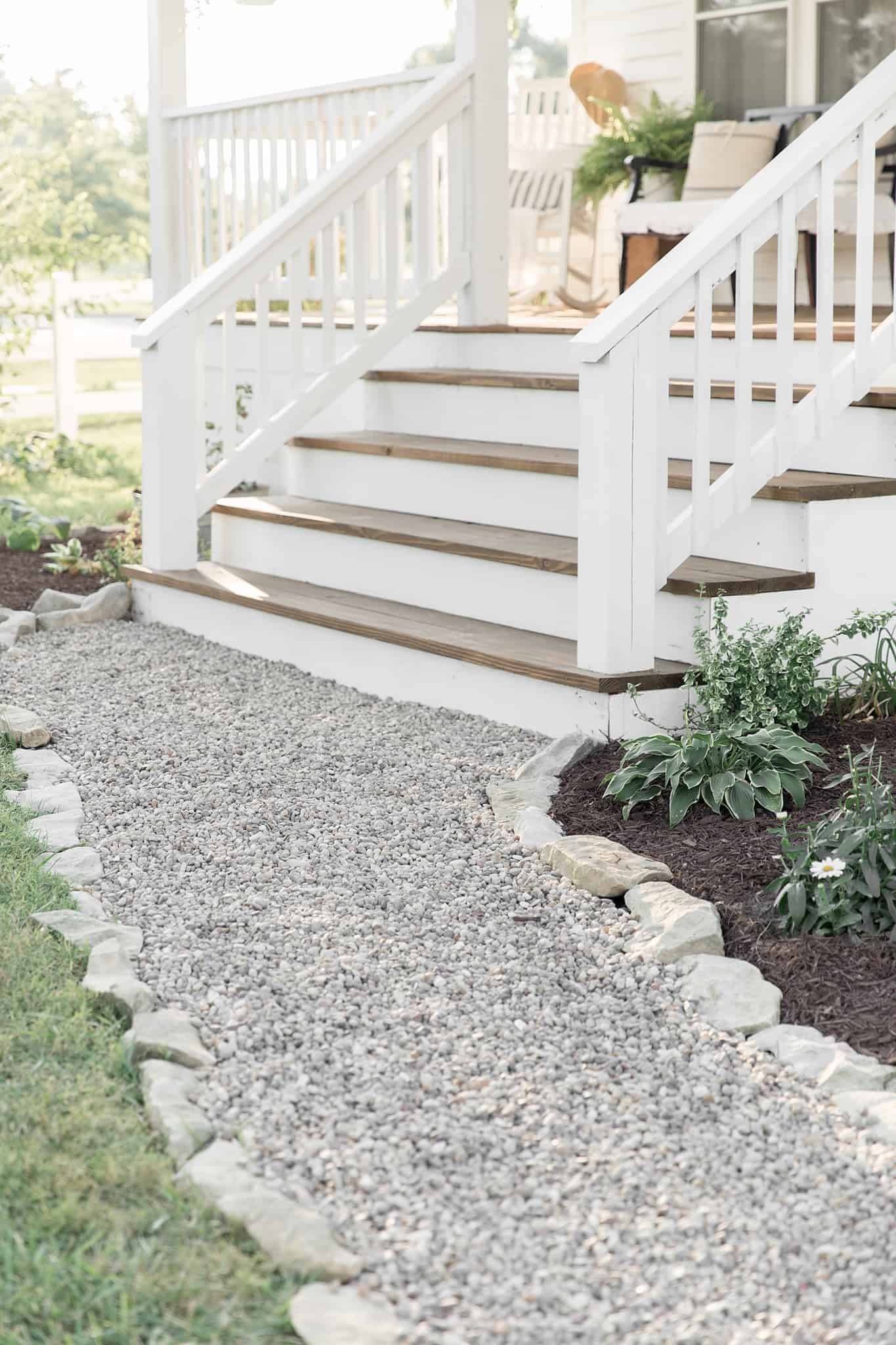 How To Cover Concrete Steps With Wood Farmhouse On Boone | Wood Railing On Concrete Steps | Stair Railing | Diy | Wooden | Railing Mode | Staircase