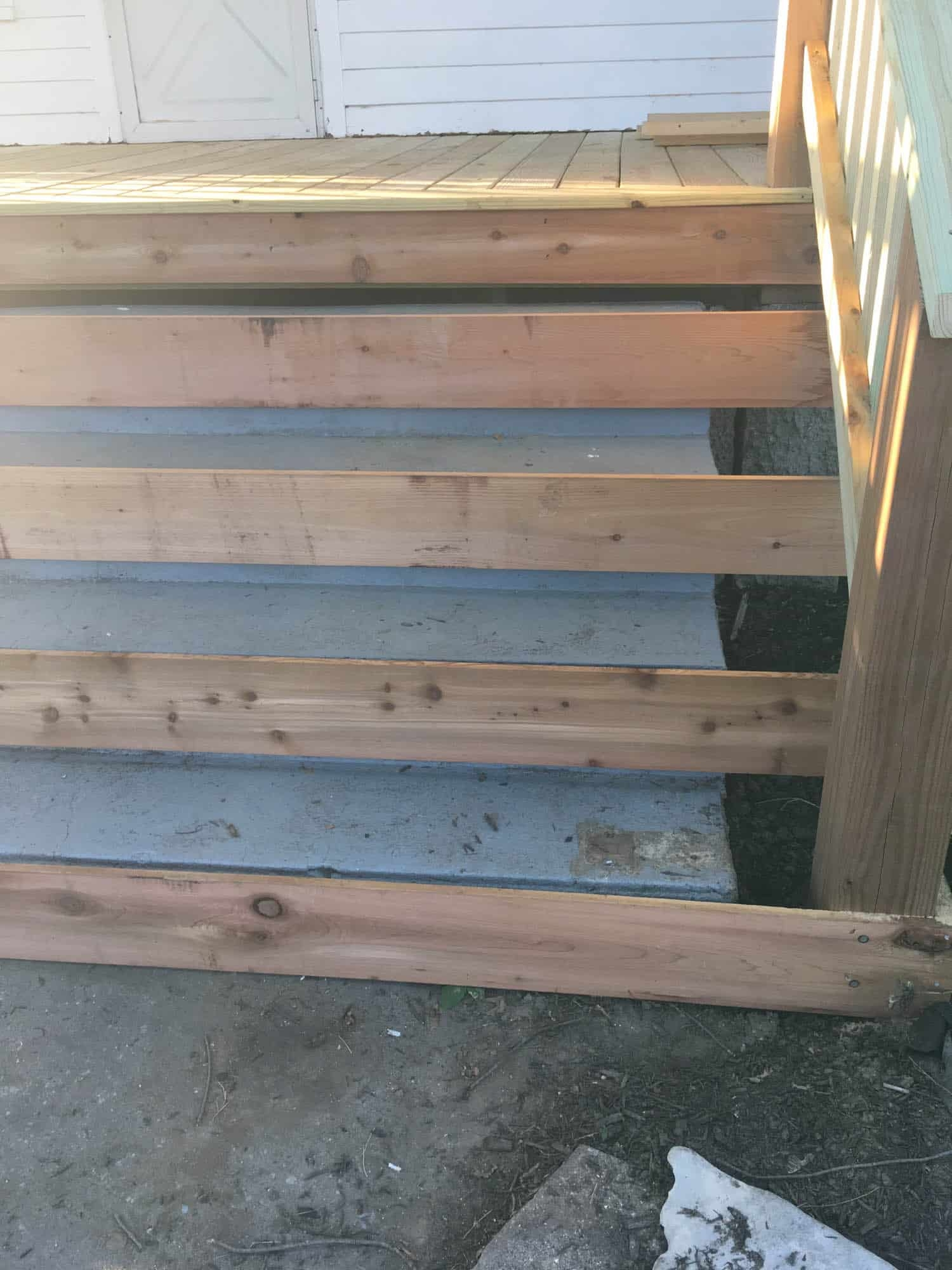 How To Cover Concrete Steps With Wood Farmhouse On Boone | Wood Deck Over Concrete Steps | Extension | Front | Back Deck | Cover Concrete | Solid Deck