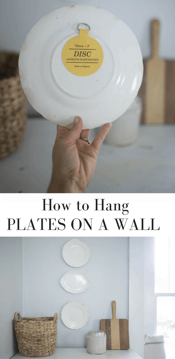 Learn How to Hang Plates on a Wall With This Simple Trick- Includes a Video & How to Hang Plates on a Wall - Farmhouse on Boone