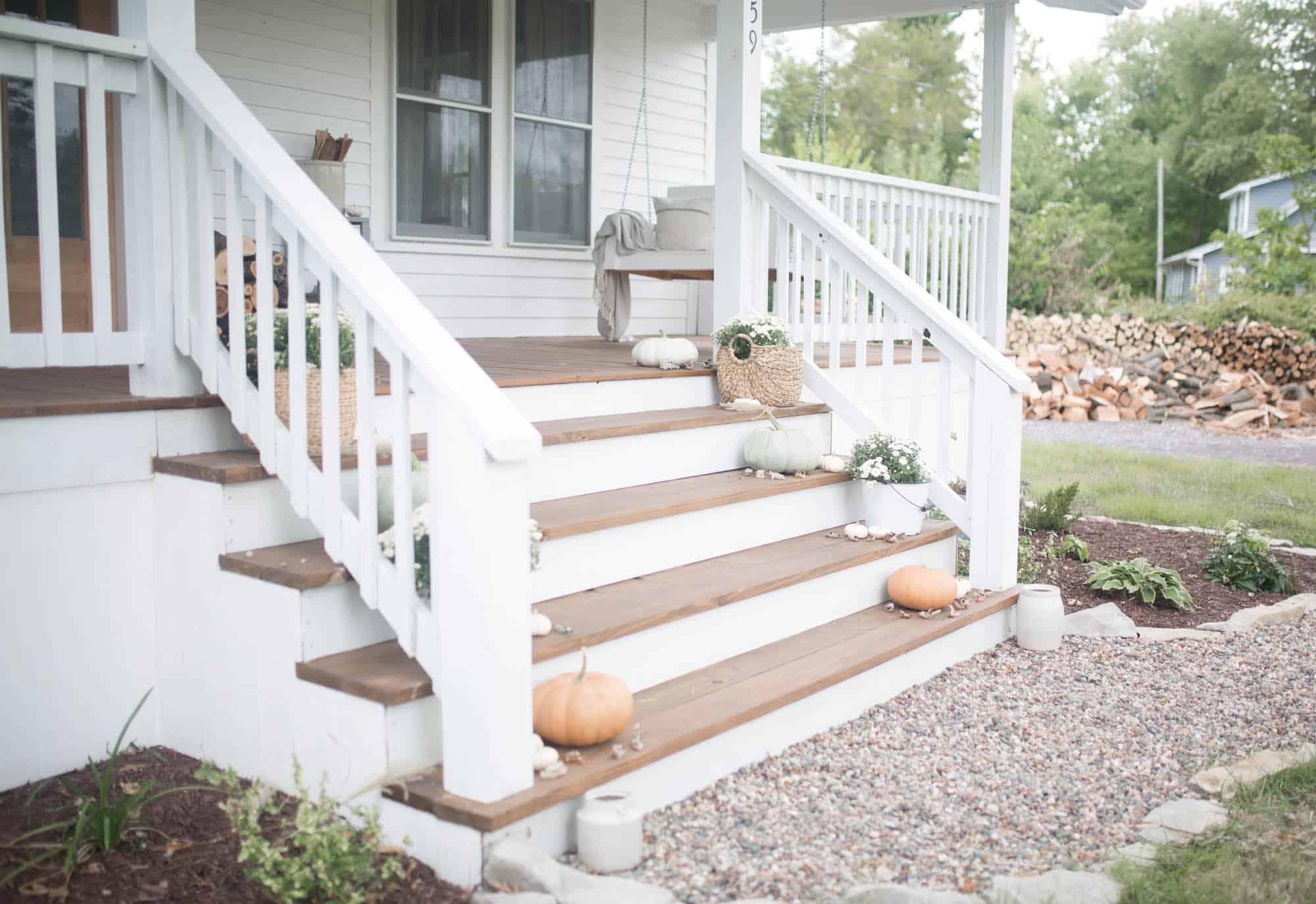 Fall Farmhouse Front Porch Ideas with Farmhouse on Boone