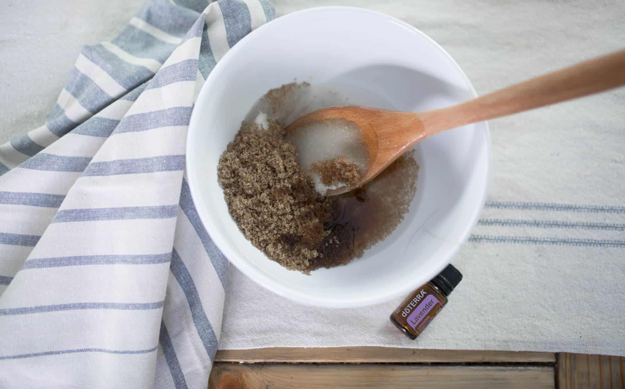 How to Make Homemade Sugar Scrub with Relaxing Lavender Essential Oil