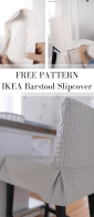 How To Sew A Parsons Chair Slipcover For The Ikea Henriksdal Bar Stool Farmhouse On Boone