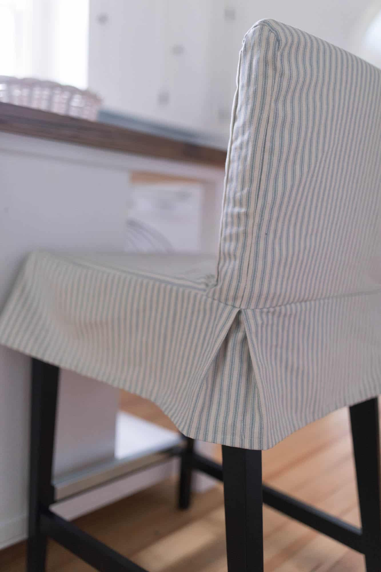 parsons chair cover tutorial desk no wheels target how to sew a slipcover for the ikea