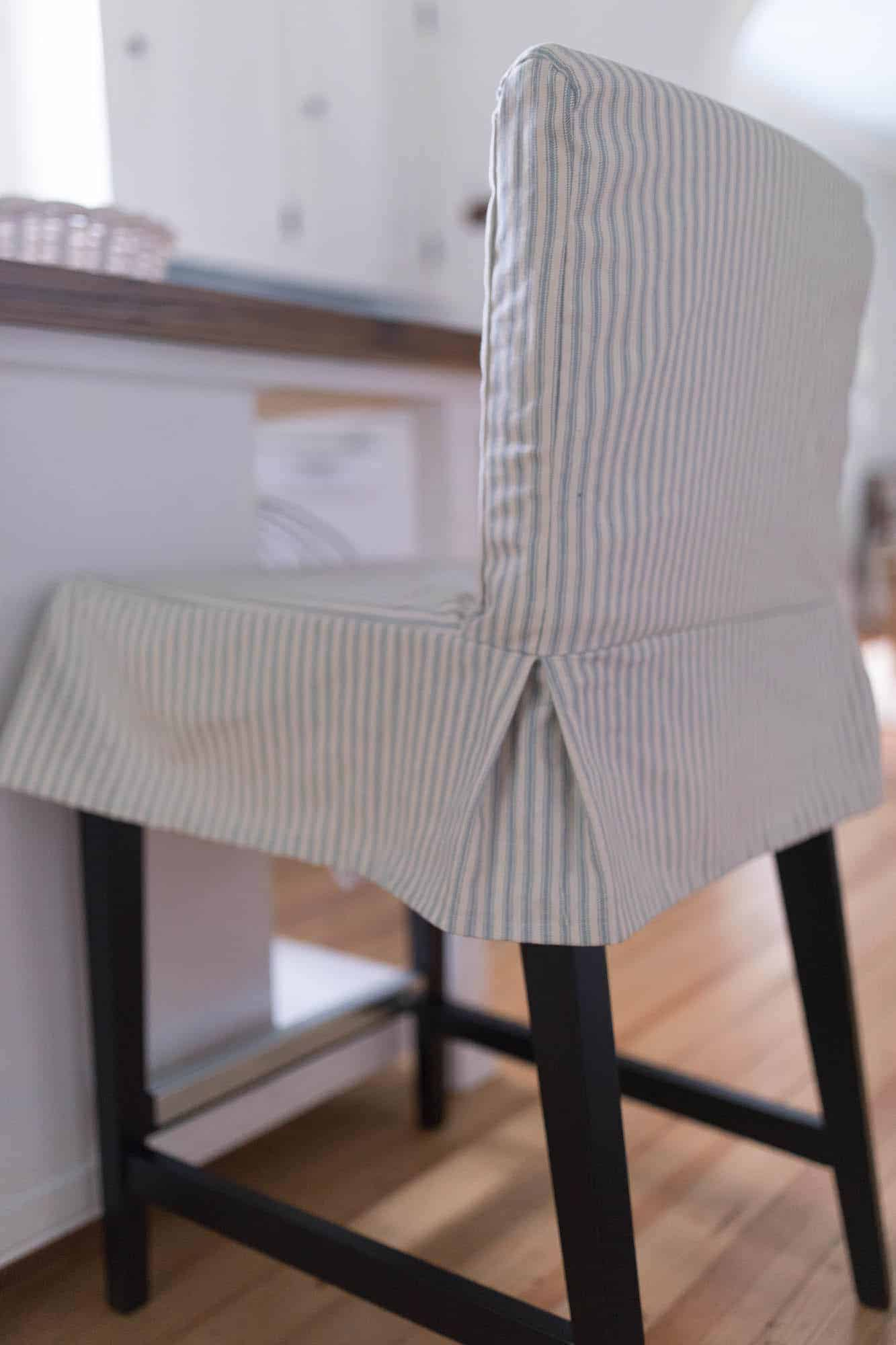 parsons chair cover tutorial heavy duty chairs how to sew a slipcover for the ikea