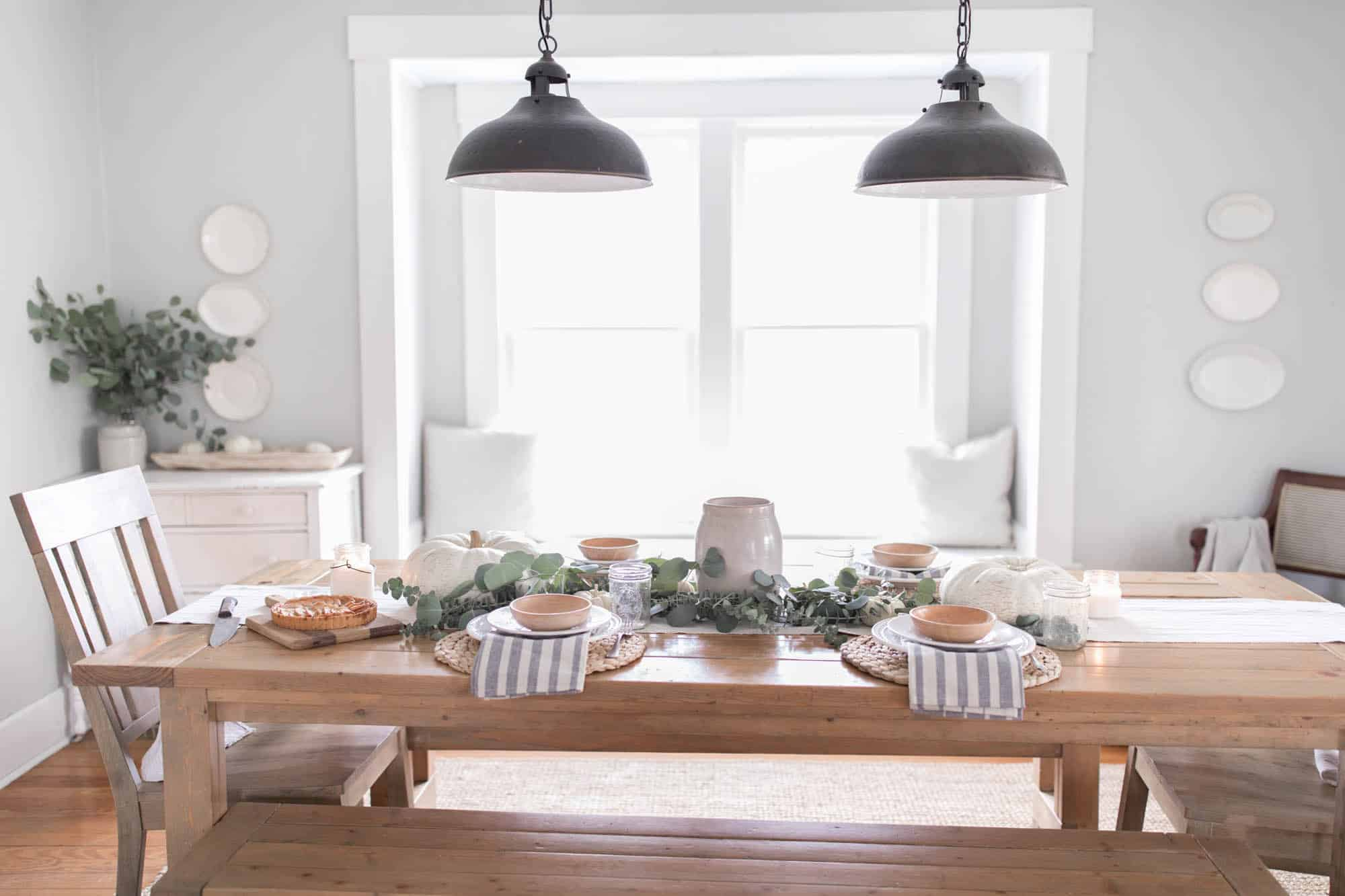small rectangular kitchen table ninja farmhouse thanksgiving decor - on boone