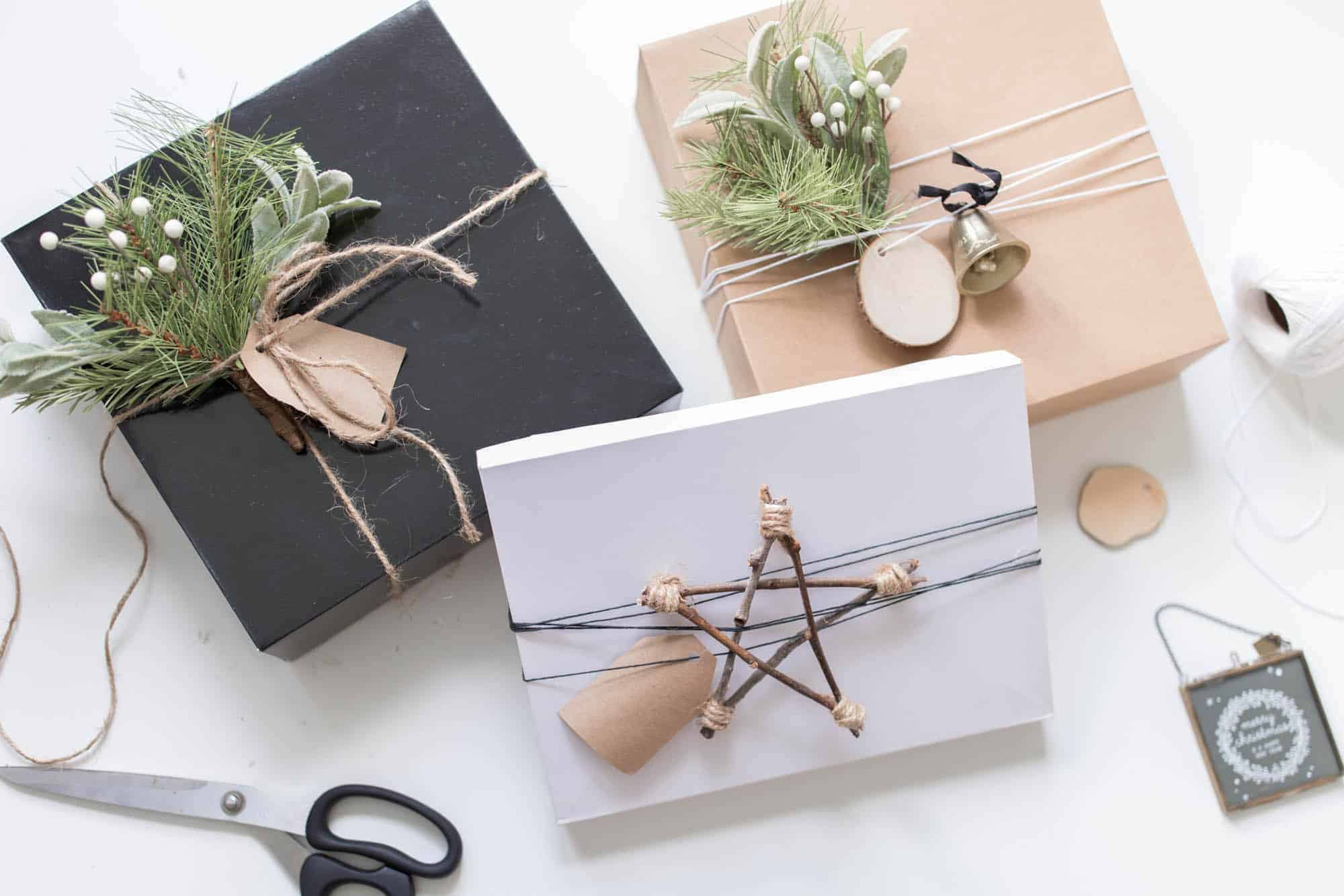 scandinavian christmas gift wrap
