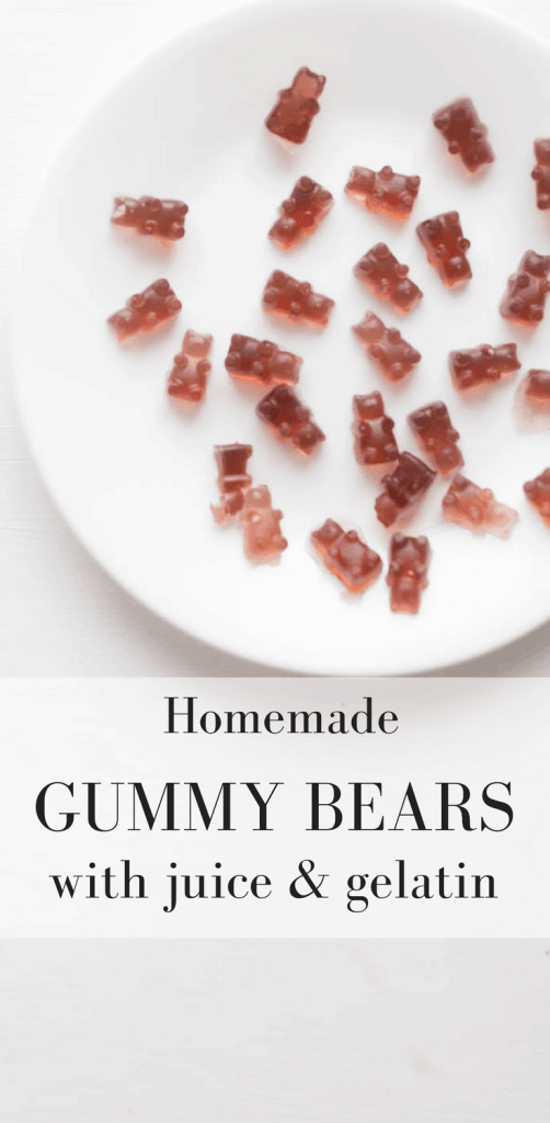 How to Make Healthy Homemade Gummy Bears with Juice and Gelatin