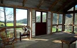 kitchen picnic table small storage cabinet den / sun room - figueroa mountain farmhouse