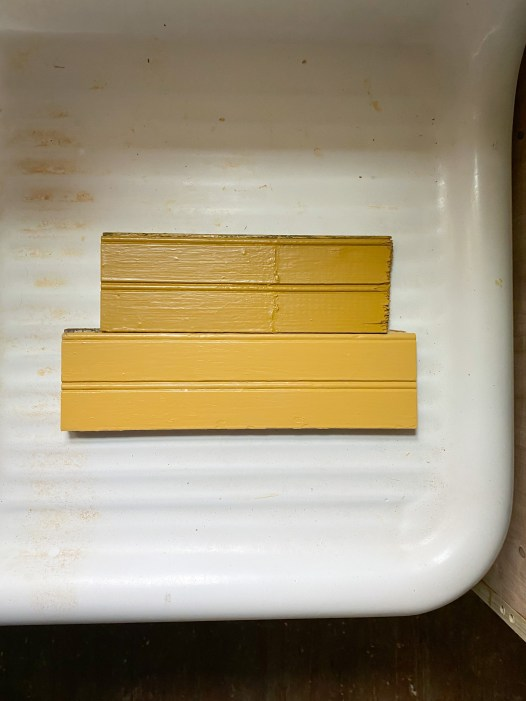 two yellow dark paint colors