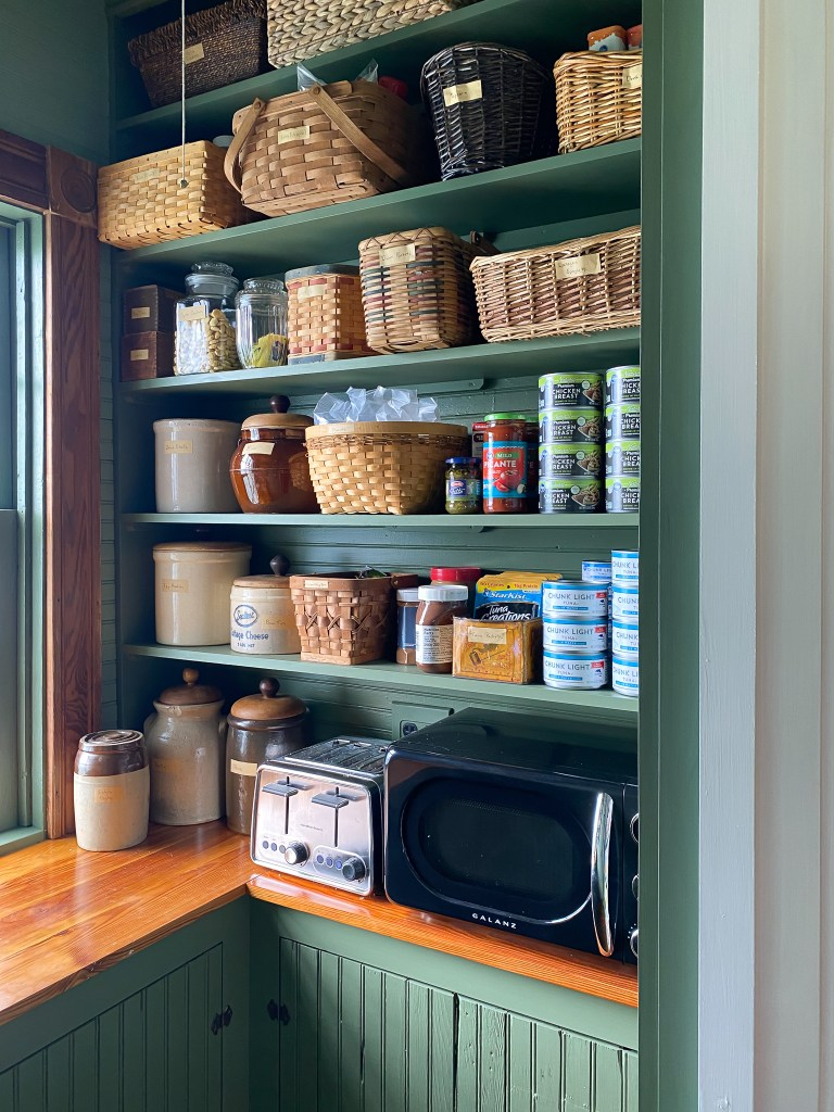 victorian pantry shelves