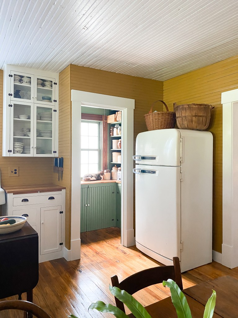 antique fridge and pantry