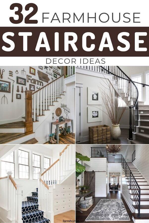 Modern Farmhouse Staircase Ideas : modern, farmhouse, staircase, ideas, Farmhouse, Style, Modern, Staircase, Inspiration