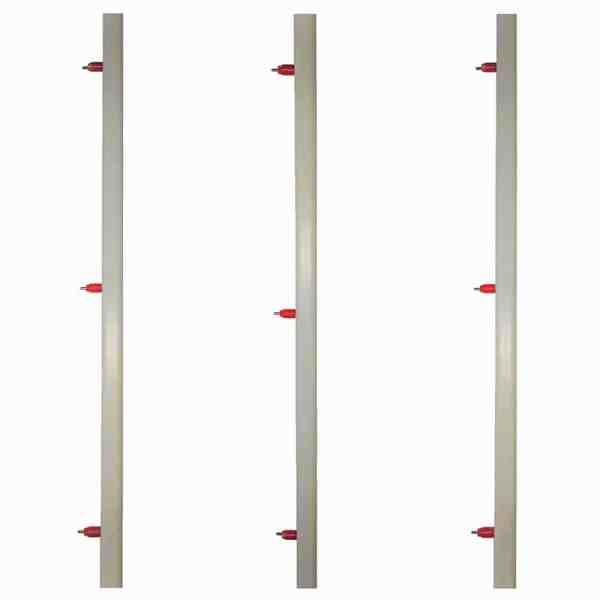linea de tubo cuadrado con tiples
