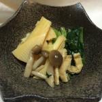 筍と小松菜の煮びたし