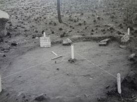 Excavation of abandoned Tiv house