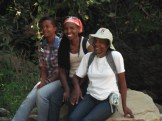 Rachel, Freda and Angela at the furrow source