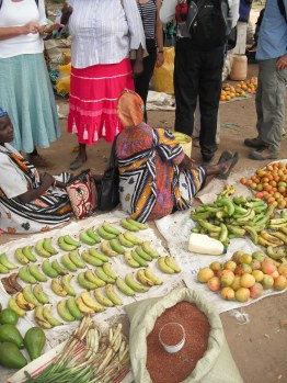 produce on sale at Koloa market