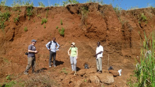 soil profile RB01 along the Embobut River
