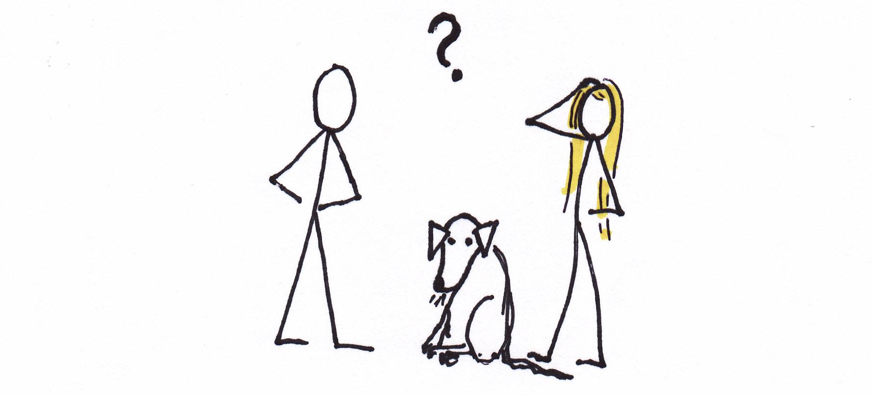 Easy Going Dog Cartoon