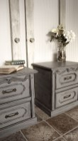 Goodnight Sweetheart Nightstands #DIY #furniturepaint #paintedfurniture #homedecor #nightstand #grey #glaze #chalkpaint #bedroom #rustic #countrychicpaint - blog.countrychicpaint.com