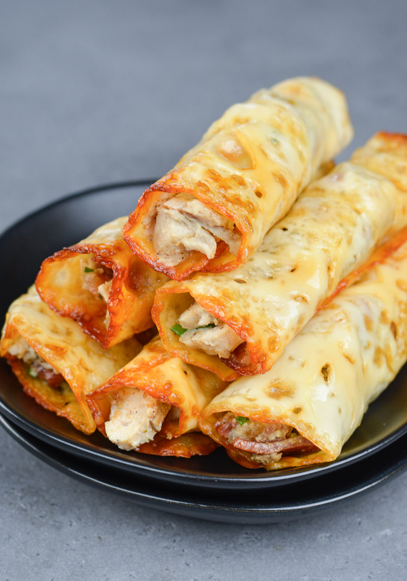 These quick and easyKeto Chicken Bacon Ranch Taquitos are the perfect low carb appetizer or snack!