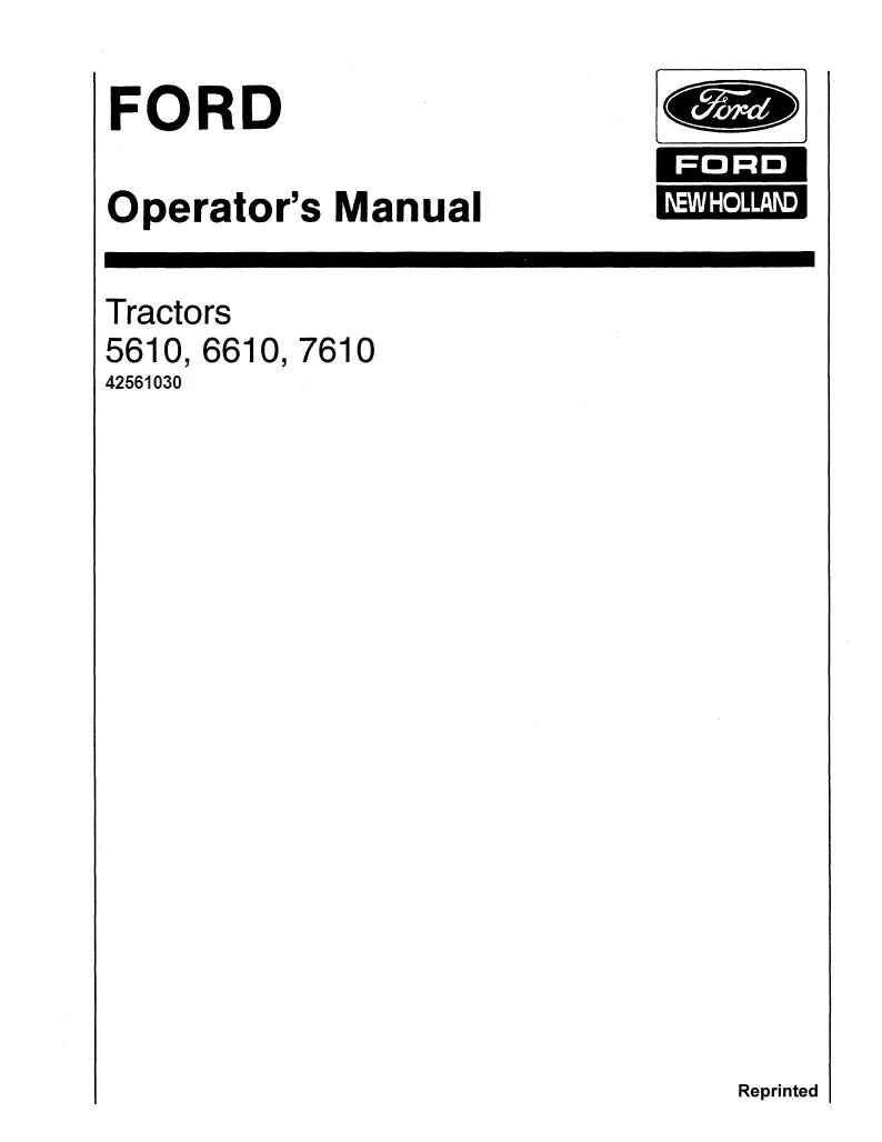 medium resolution of additional pictures of the ford 5610 6610 7610 ii and 7810 includes