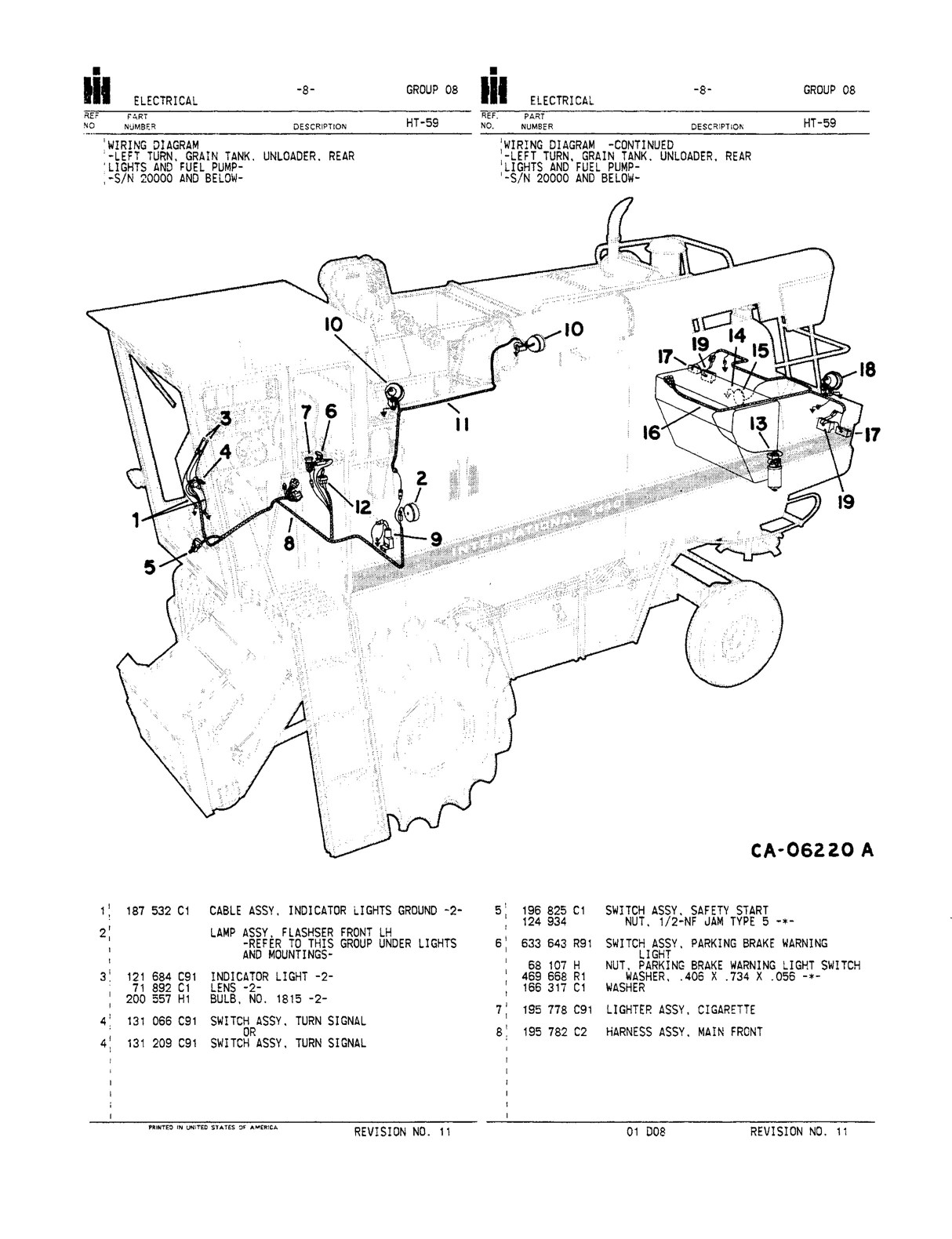 hight resolution of international 1440 combine parts catalog farm manuals fast ih 1440 combine wiring diagram