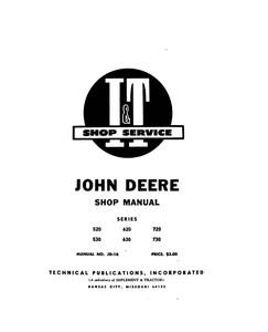 John Deere 520, 530, 620, 630, 720, and 730 Tractor