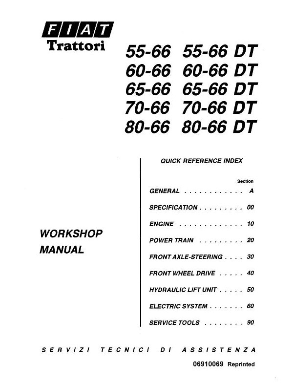 Fiat Hesston 55, 55-66, 55-66DT, 60, 60-66, 60-66DT, 65