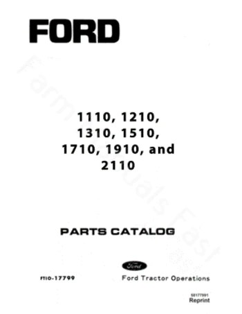 Ford 1110, 1210, 1310, 1510, 1710, 1910, and 2110 Tractor