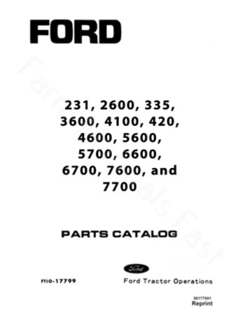 Ford 231, 335, 420, 2600, 3600, 4100, 4600, 5600, 5700