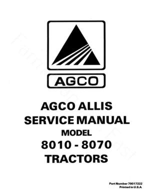 Allis-Chalmers 8010, 8030, 8050, and 8070 Tractors