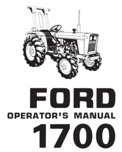 Ford 1700 Tractor Manual PDF 9.99