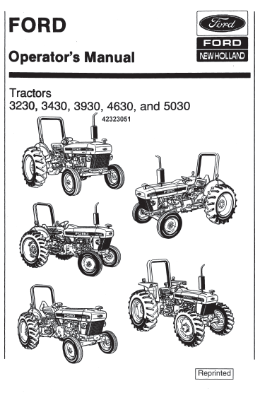 Ford 3230 3430 3930 4630 5030 Tractor Manual PDF 9.99