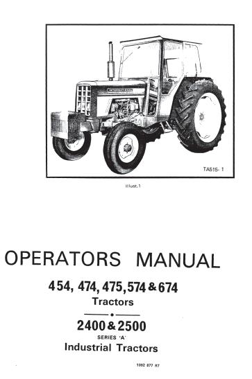 International 454 474 475 574 674 tractor 2400 2500