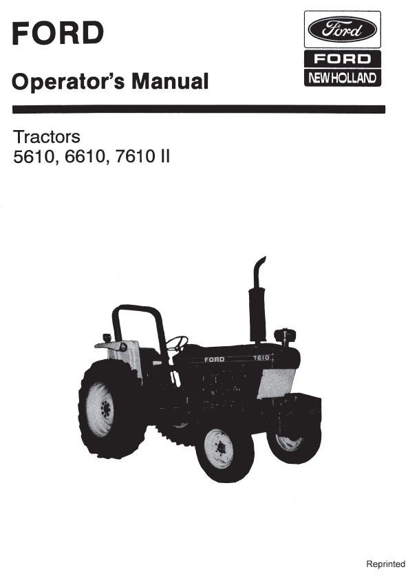 Ford 5610 6610 7610 II Tractor Manual PDF 9.99