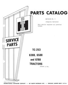 International 6388 6588 6788 Parts Catalog