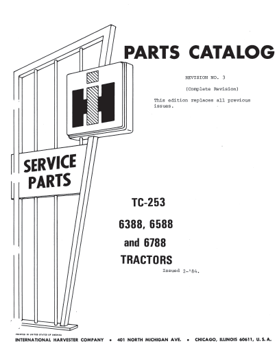 International 6388 6588 6788 Parts Catalog