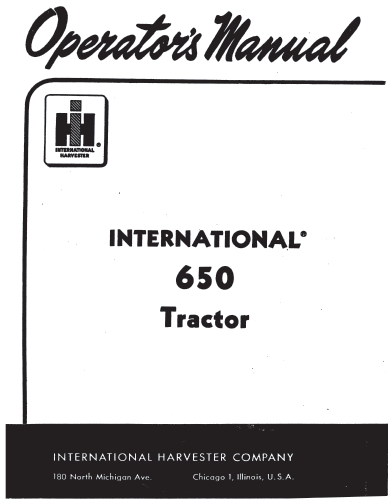 International 650 tractor manual PDF 5.99