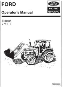 Ford 7710 II Tractor Manual PDF