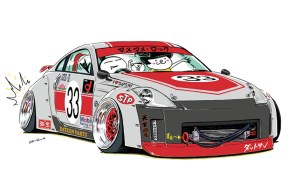 ozizo japanese jdm mame cars illustrations drawings cartoon illustration deviantart farmofminds drift z33 drifting ae86 automotive tokyo crazy related favourites
