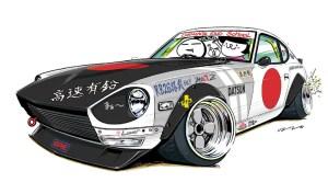 ozizo jdm japanese datsun cars mame 240z nissan s30z stance illustration illustrations cartoon slammed tuner japan deviantart hakosuka tuning cool