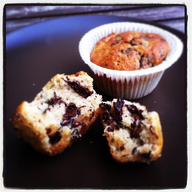 Banan-Chokolade Muffins